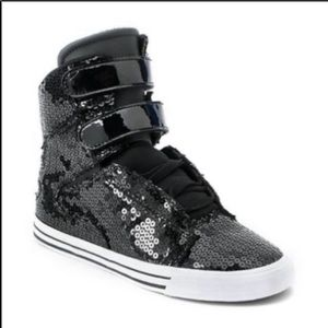 Supra special edition sequin high top sneakers